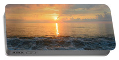 Portable Battery Charger featuring the photograph August Obx Sunrise by Barbara Ann Bell