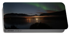 Aurora Northern Polar Light In Night Sky Over Northern Norway Portable Battery Charger