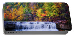 Portable Battery Charger featuring the photograph Autumn Beauty At Lower Taughannock Falls  by Lynn Bauer
