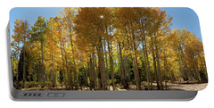 Portable Battery Charger featuring the digital art Autumn Blaze Outside Of Crested Butte, Colorado.  by OLena Art Brand