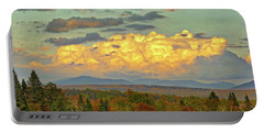 Autumn Clouds Over Maine Portable Battery Charger