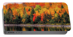 Portable Battery Charger featuring the photograph Autumn Colors Reflection by Dan Sproul