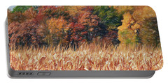 Autumn Cornfield Portable Battery Charger