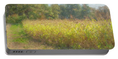 Autumn Field In Sunlight Portable Battery Charger