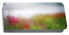 Autumn Fog On Eagle Lake Portable Battery Charger