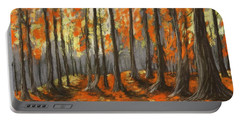 Portable Battery Charger featuring the painting Autumn Forest by Anastasiya Malakhova