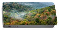 Autumn Hillsides With Mist Portable Battery Charger