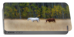 Autumn Horse Meadow Portable Battery Charger