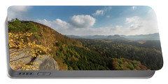 Portable Battery Charger featuring the photograph Autumn In The Elbe Sandstone Mountains by Andreas Levi