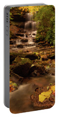 Portable Battery Charger featuring the photograph Autumn Leaves West Milton Waterfall by Dan Sproul