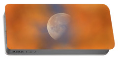 Portable Battery Charger featuring the photograph Autumn Moon by Dan Sproul