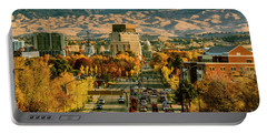 Autumn Morning In Boise Idaho Usa Portable Battery Charger