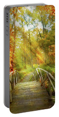 Portable Battery Charger featuring the photograph Autumn - Nice Day For A Walk by Mike Savad