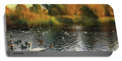 Portable Battery Charger featuring the photograph Autumn On The Lake by Leigh Kemp