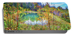Portable Battery Charger featuring the photograph Autumn Reflections At The Pond by Lynn Bauer