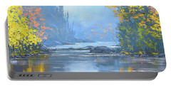 Autumn River Trees Portable Battery Charger