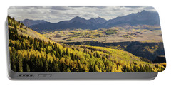Portable Battery Charger featuring the photograph Autumn Season View Of Sneffles Ten Peak by James BO Insogna