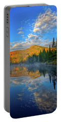 Autumn Sky, Mountain Pond Portable Battery Charger