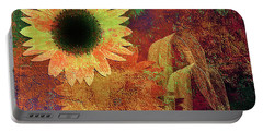 Autumn Sunflower Absrtact Portable Battery Charger