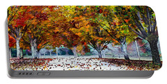 Portable Battery Charger featuring the digital art Autumn Trees by Pennie McCracken