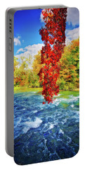 Portable Battery Charger featuring the photograph Autumn's Flame - Niagara Falls, New York by Lynn Bauer