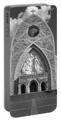Ave Maria Cathedral Black And White Portable Battery Charger