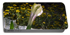 Portable Battery Charger featuring the photograph Awakening - Sacred Datura by Judy Kennedy