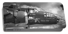 Portable Battery Charger featuring the photograph B-25 Mitchell Show Me by Philip Rispin