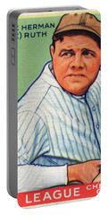 Babe Ruth Baseball Card 1933 Portable Battery Charger