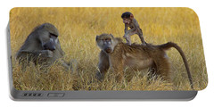 Baboons In Botswana Portable Battery Charger