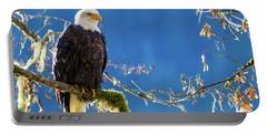 Backlit Bald Eagle In Squamish Portable Battery Charger