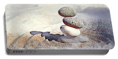 Portable Battery Charger featuring the digital art Balance by Pennie McCracken