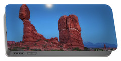 Balanced Rock By Moonlight Portable Battery Charger