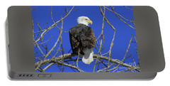 Bald Eagle And Blue Sky Portable Battery Charger