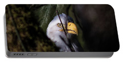 Bald Eagle Behind Tree Portable Battery Charger