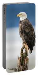 Bald Eagle On Snag Portable Battery Charger