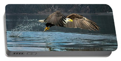 Bald Eagle With Catch Portable Battery Charger