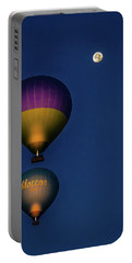Balloons And The Moon Portable Battery Charger