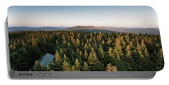 Balsam Lake Mountain Sunset Moon Portable Battery Charger