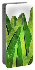 Banana Leaf - Green, Yellow, Olive- Tropical Leaf Print - Botanical Art - Modern Abstract Portable Battery Charger