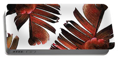 Banana Leaf - Tropical Leaf Print - Botanical Art - Modern Abstract - Brown, Copper, Red Portable Battery Charger