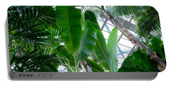 Banana Leaves In The Greenhouse Portable Battery Charger