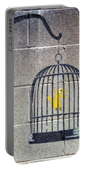 Banksy Bird Cage Detroit Portable Battery Charger