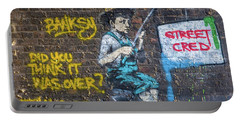 Banksy Boy Fishing Street Cred Portable Battery Charger