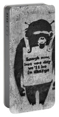 Banksy Chimp Laugh Now Graffiti Portable Battery Charger