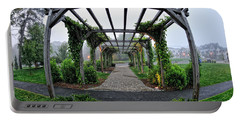 Portable Battery Charger featuring the photograph Bar Harbor Pergola by Tom Gresham