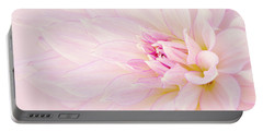 Portable Battery Charger featuring the photograph Barely There Dahlia by Mary Jo Allen