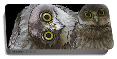 Barking Owls 2 Portable Battery Charger