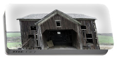 Portable Battery Charger featuring the photograph Barn 1886, Old Barn In Walton, Ny by Gary Heller
