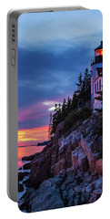 Bass Harbor Head Lighthouse At Twilight Portable Battery Charger